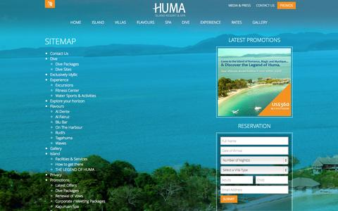 Screenshot of Site Map Page humaisland.com - Sitemap - captured Nov. 2, 2014