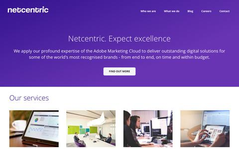 Screenshot of Home Page netcentric.biz - Netcentric Home - captured Nov. 29, 2016