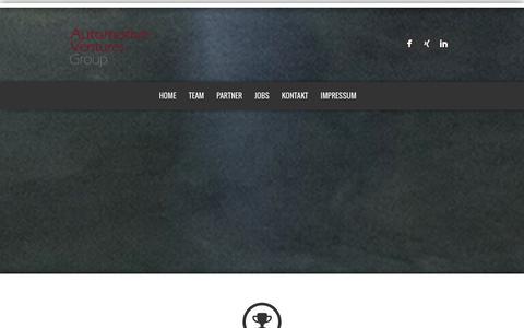 Screenshot of Home Page Team Page automotive-ventures.com - AUTOMOTIVE VENTURES GROUP - captured Oct. 4, 2014