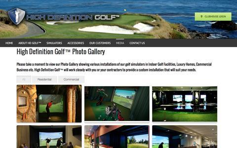 Screenshot of Press Page hdgolf.com - Photo Gallery - High Definition Golf Simulators - captured Nov. 26, 2016