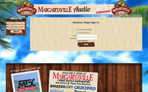 Screenshot of Login Page margaritavilleaudio.com - Login Margaritaville Audio - captured Oct. 27, 2014
