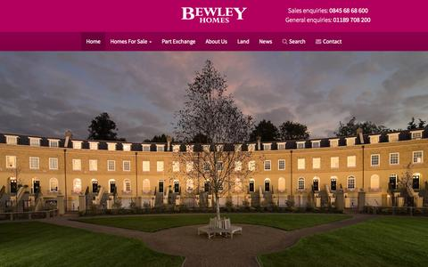 Screenshot of Home Page bewley.co.uk - New Houses for Sale in the South East of England - Bewley  | Bewley Homes - captured Oct. 3, 2015