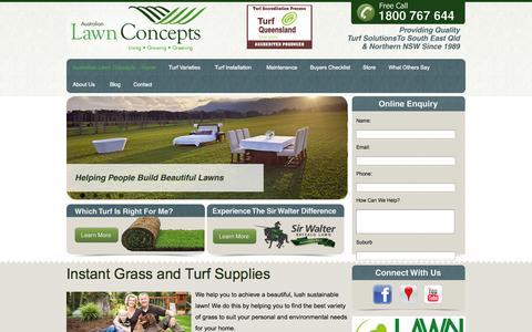 Screenshot of Home Page alcturf.com.au - Australian Lawn Concepts - captured Jan. 23, 2015