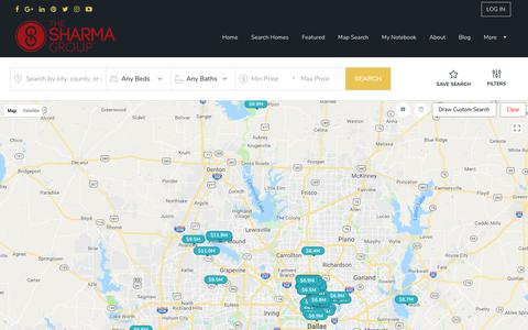 Screenshot of Maps & Directions Page alldfwhomesforsale.com - Homes for Sale   Find Homes In DFW Area - captured July 29, 2018
