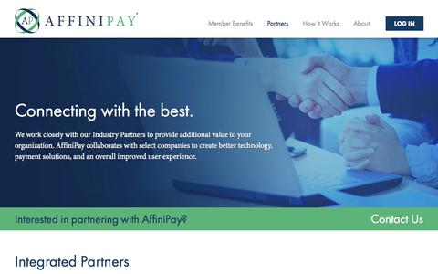 Screenshot of Developers Page affinipay.com - The Payment Partner for Associations | Partners | AffiniPay - captured Nov. 5, 2015