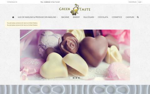 Screenshot of Home Page greektaste.ro - Greek Taste - captured Sept. 30, 2018