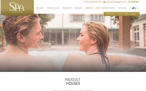 Screenshot of Products Page galgorm.com - Spa Days Northern Ireland | The Spa at Galgorm - captured Jan. 25, 2016