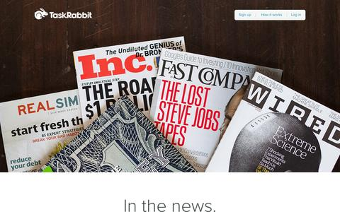 Screenshot of Press Page taskrabbit.com - Company News - TaskRabbit - captured Sept. 17, 2014