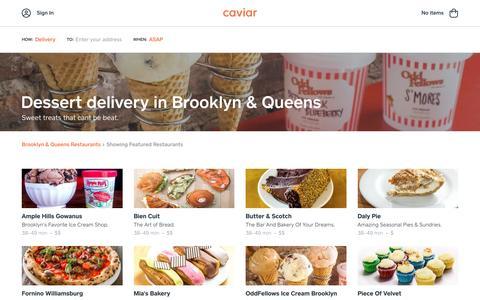Dessert delivery in Brooklyn & Queens | Caviar