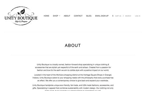 Screenshot of About Page unityboutique.com - ABOUT | Unity Boutique - captured Jan. 10, 2016
