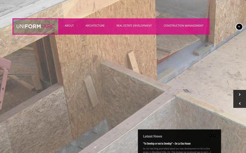 Screenshot of Home Page uniform-arc.com - UNIFORM-ARC - captured Jan. 26, 2015