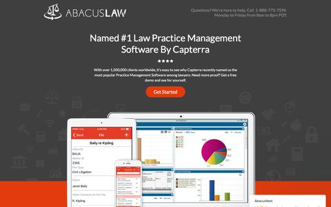 Screenshot of Landing Page abacusnext.com - AbacusLaw Practice Management Software - captured May 3, 2018