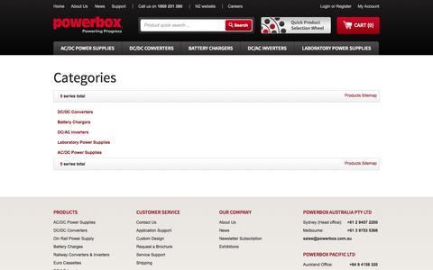 Screenshot of Site Map Page powerbox.com.au - Site Map - captured Oct. 3, 2014