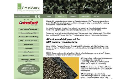 Screenshot of Home Page grassworxllc.com captured Sept. 30, 2014