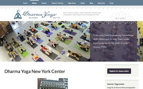 Screenshot of Contact Page Hours Page dharmayogacenter.com - Dharma Yoga New York Center | Dharma Yoga Center New York City - captured Oct. 23, 2014