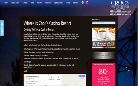 Screenshot of Maps & Directions Page crocscasinoresort.com - Where is Croc's Casino Resort | CrocsCasinoResort.com - captured Dec. 13, 2015