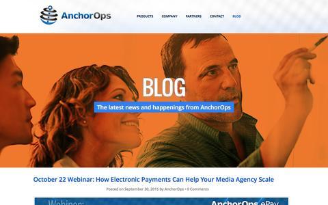 Screenshot of Blog anchorops.com - Media Finance Solutions   AnchorOps - captured July 25, 2016