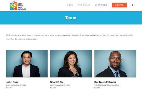 Screenshot of Team Page pacificcharter.org - Team – PCSD - captured Dec. 13, 2018