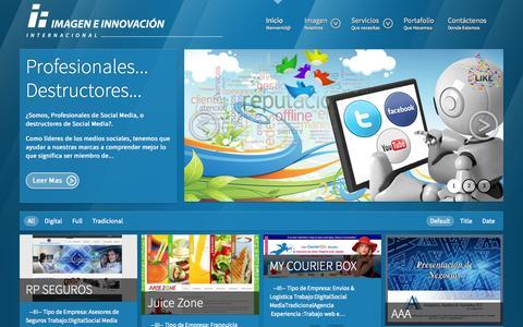 Screenshot of Home Page imageneinnovacion.com - Imagen e Innovación Internacional  - Imagen e Innovación Internacional - captured Oct. 6, 2014