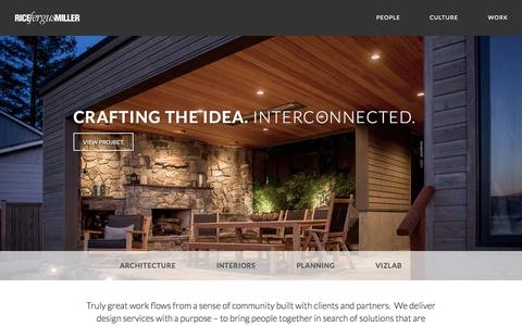 Screenshot of Home Page rfmarch.com - Rice Fergus Miller | Bremerton Architecture Firm | Kitsap County Architecture Firm - captured Sept. 11, 2015