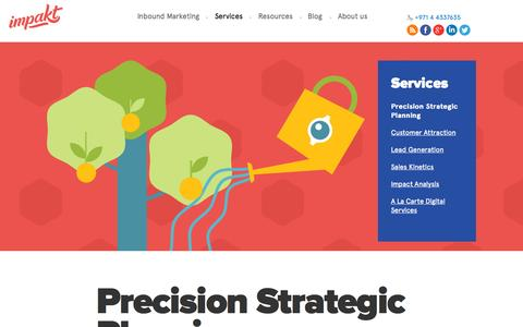 Screenshot of Services Page impakt.com - How Our Digital Marketing Strategy Works » Impakt - captured Sept. 19, 2014