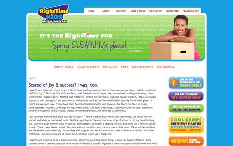 Screenshot of Blog righttimekids.com - » Our Blog RightTime KiDS - captured Oct. 9, 2014