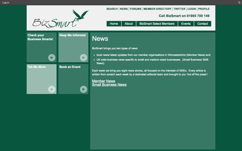 Screenshot of Press Page biz-smart.co.uk - News - captured Sept. 30, 2014