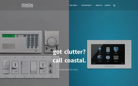 Screenshot of Home Page coastalintegrated.com - Coastal Integrated | Building Technology Working Together - captured June 18, 2015