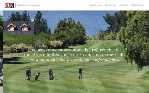 Screenshot of Home Page pixargentina.com - PIX | Desarrollos Inmobiliarios - captured Sept. 26, 2018