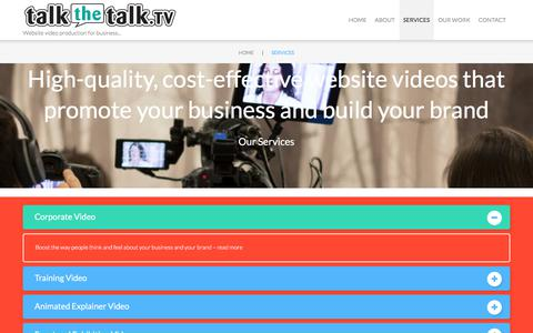 Screenshot of Services Page talkthetalk.tv - Services | talkthetalk.tv - captured Oct. 19, 2017