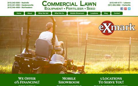 Screenshot of Home Page commerciallawnequipment.com - Lawn Care - Home | Commercial Lawn Equipment - captured Dec. 10, 2015