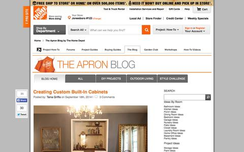 Screenshot of Blog homedepot.com - Home Improvement Blog – The Apron by The Home Depot DIY projects & Inspiration - captured Sept. 19, 2014
