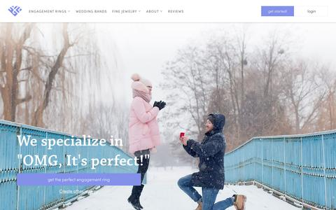 Screenshot of Home Page custommade.com - Engagement Rings - Wedding Rings & Fine Jewelry | CustomMade - captured March 14, 2019