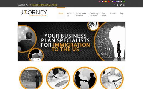 Screenshot of Home Page joorney.com - Joorney Strategic Business Planning-  Joorney - captured Oct. 1, 2014
