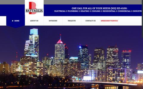 Screenshot of Home Page battag.com - Battaglia Electrical Mechanical - captured Feb. 7, 2016