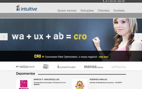 Screenshot of Home Page intuitive-ux.com - ✔ Intuitive - captured Dec. 6, 2015