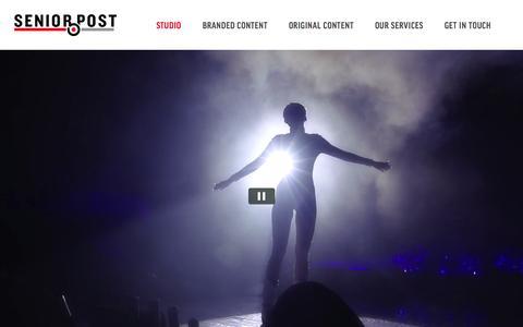 Screenshot of Home Page senior-post.com - Senior Post - captured Aug. 16, 2015