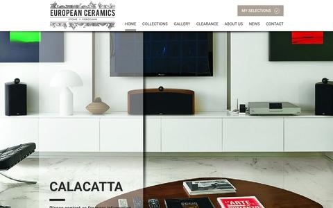 Screenshot of Home Page euroceramics.co.nz - European Ceramics | Designer Italian Tiles & Stone - captured Jan. 26, 2016