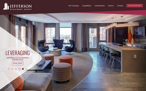 Screenshot of Home Page jeffersonapartmentgroup.com - Home - Jefferson Apartment Group - captured Sept. 20, 2018