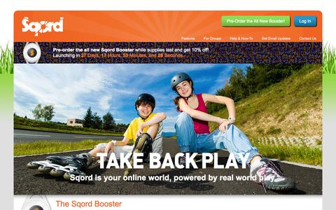 Screenshot of Home Page sqord.com - Sqord | Make healthy, active play more fun for kids. - captured Sept. 17, 2014