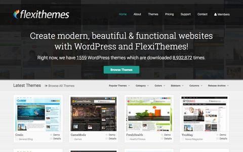 Screenshot of Home Page flexithemes.com - Free And Premium WordPress Themes by FlexiThemes.com - captured Jan. 22, 2015