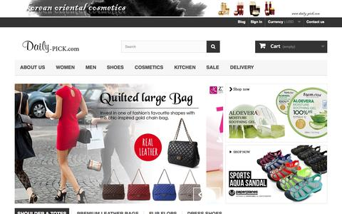 Screenshot of Home Page daily-pick.com - www.Daily-Pick.com - Best Fashion Handbags In daily-pick.com - captured Sept. 23, 2014