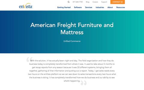 Screenshot of Testimonials Page envistacorp.com - American Freight Furniture & Mattress - enVista Unified Commerce Project - captured Feb. 20, 2020