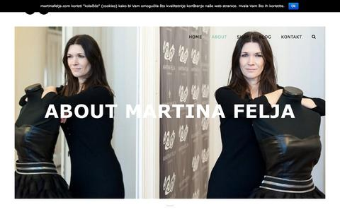 Screenshot of About Page martinafelja.com - About - Martina Felja - captured April 16, 2018