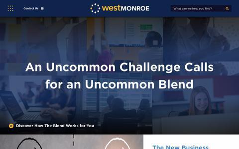 Screenshot of Home Page westmonroepartners.com - West Monroe Partners: Business Consultants | Deep Technologists - captured Jan. 18, 2018