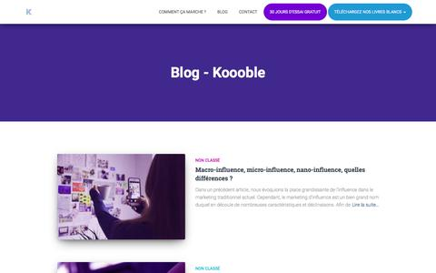 Screenshot of Blog koooble.fr - Blog - Koooble - captured July 10, 2018