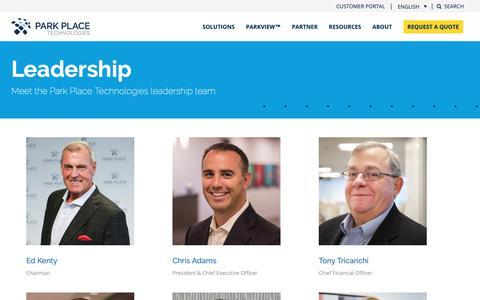 Screenshot of Team Page parkplacetechnologies.com - (1) New Message! - captured Feb. 9, 2019