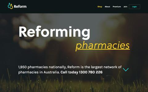 Screenshot of Home Page reformmanagement.com.au - Home » Reform Management - captured Feb. 18, 2016
