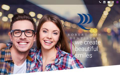Screenshot of Home Page dondds.com - Irvine Dentist 92604 | Robert Don, DDS (949) 222-0296 | Cosmetic Dentist in Irvine CA - captured Jan. 12, 2018