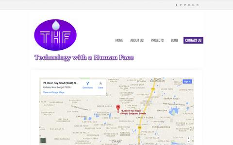 Screenshot of Contact Page weebly.com - Contact us - THF - captured Oct. 26, 2014